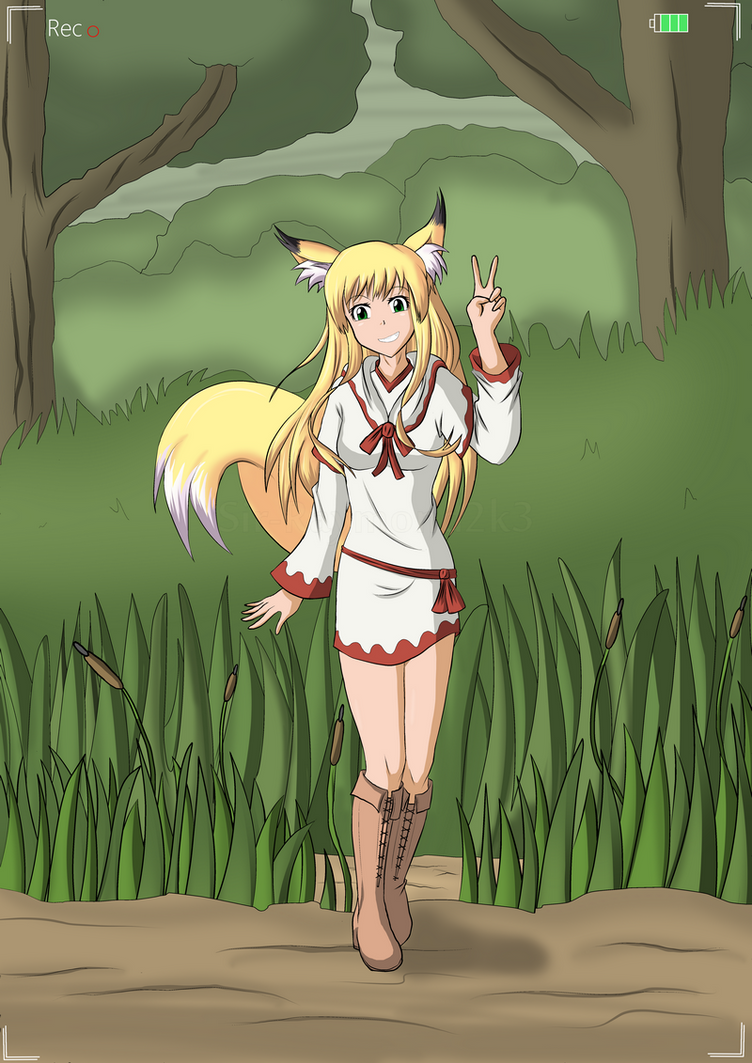 Clumsy kitsune girl 1/2 by Sir-Raymond2k3