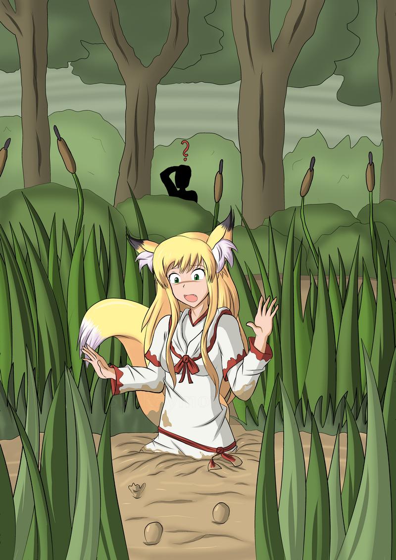 Clumsy kitsune girl 2/2 by Sir-Raymond2k3