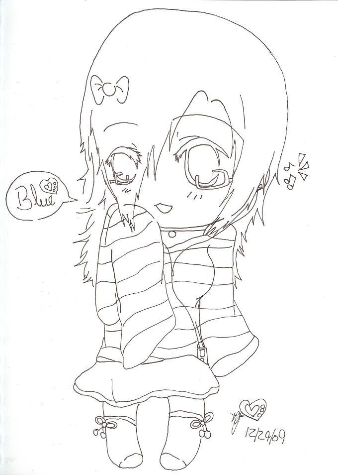 Me--Lineart by RyuBlu