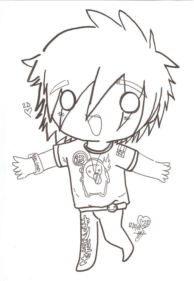2D Chibi Lineart by RyuBlu