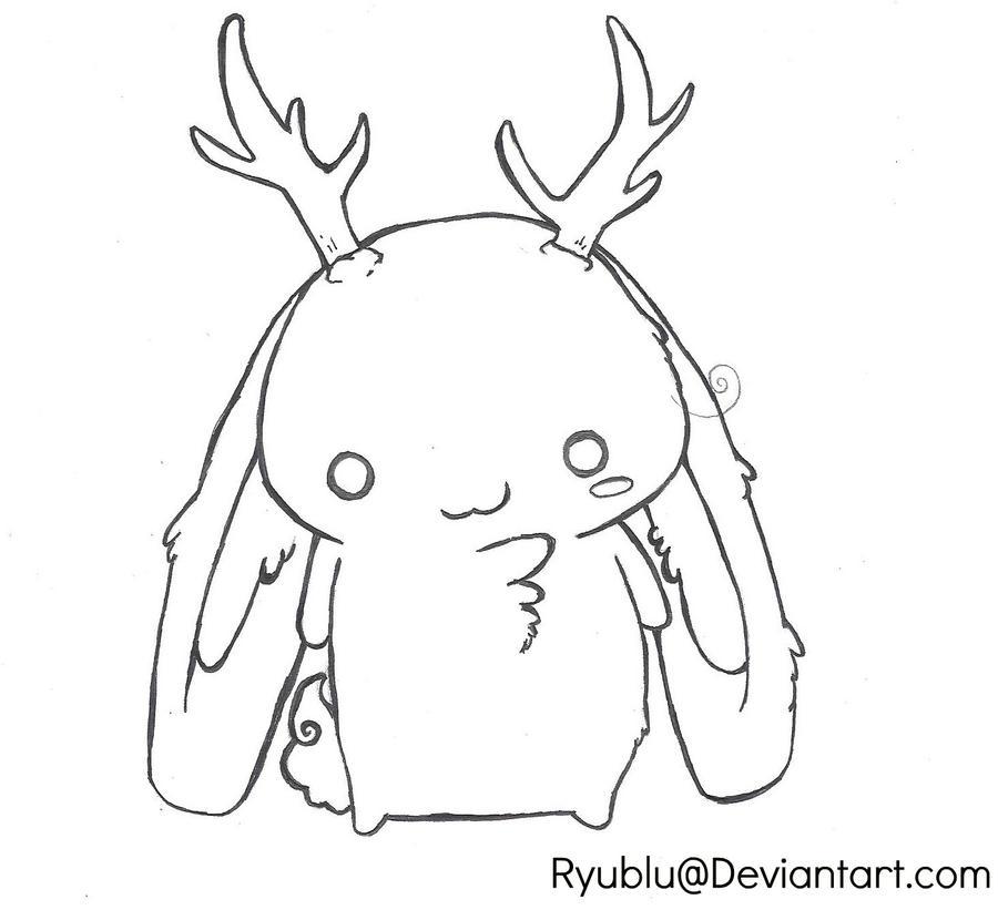 Ryu Mascot LINEART by RyuBlu