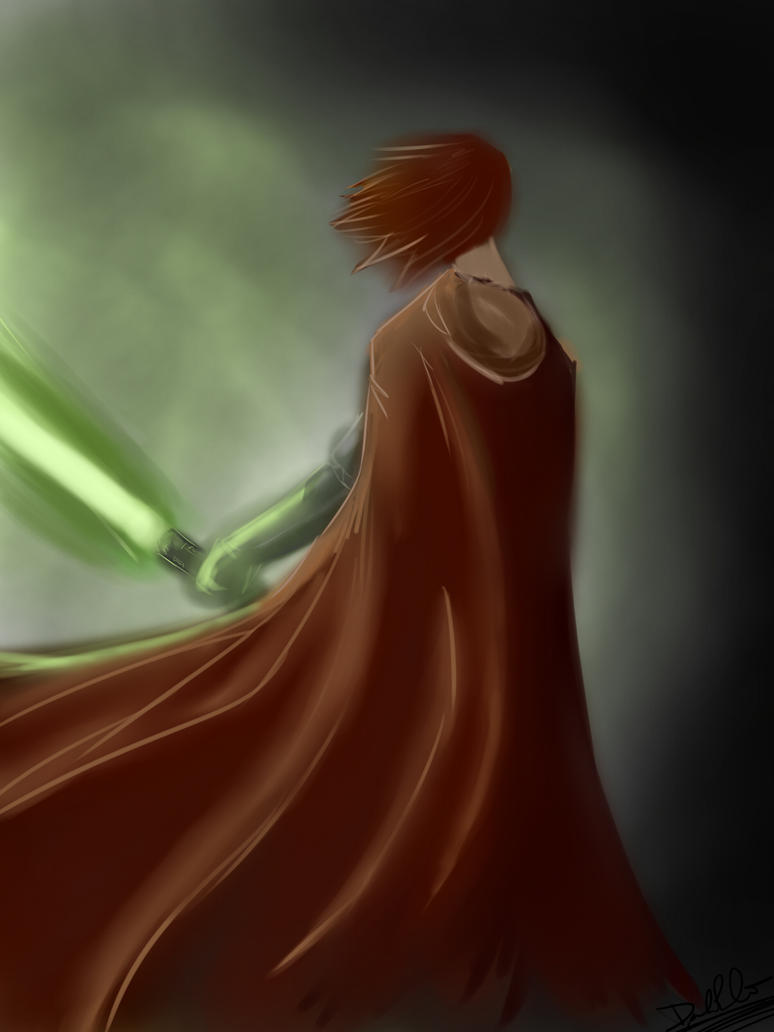 Jedi Painting by lonelion4ever