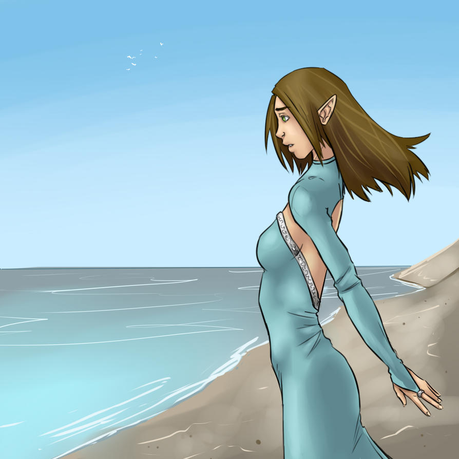 Looking to far off shores by lonelion4ever