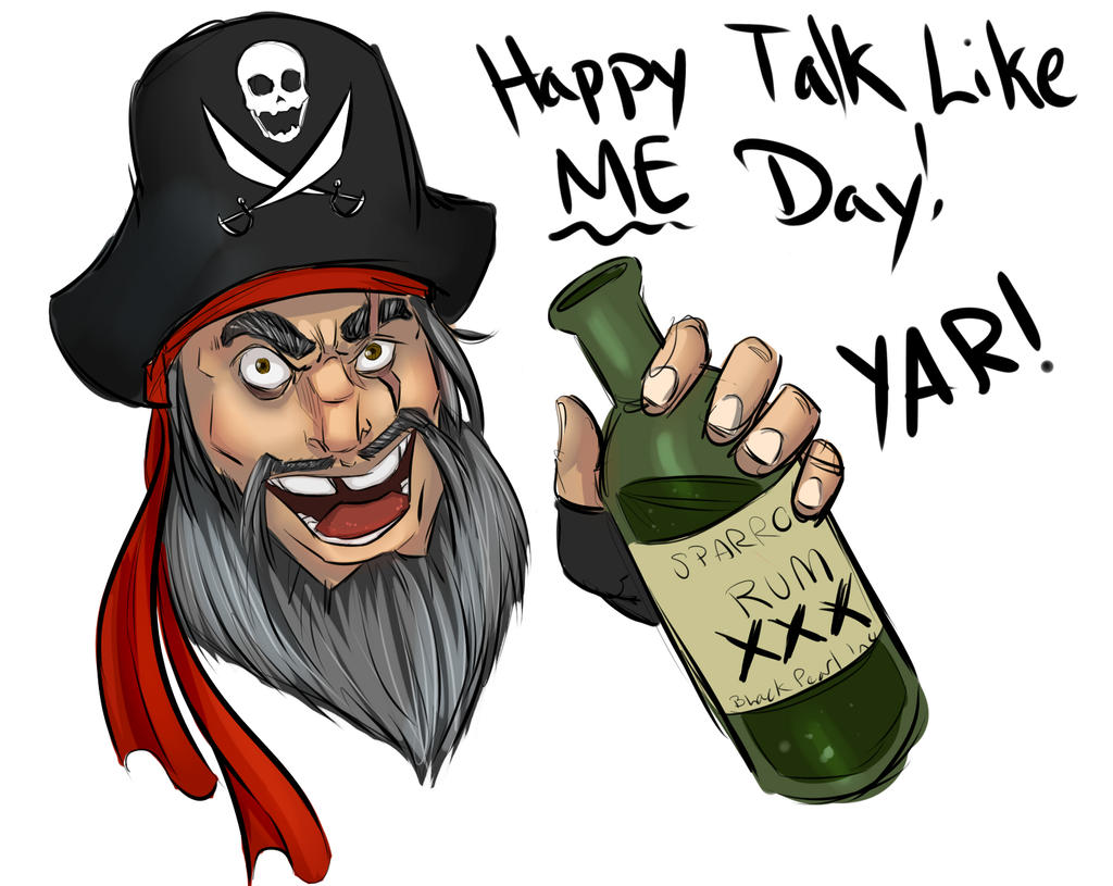 Happy talk like a pirate day by lonelion4ever