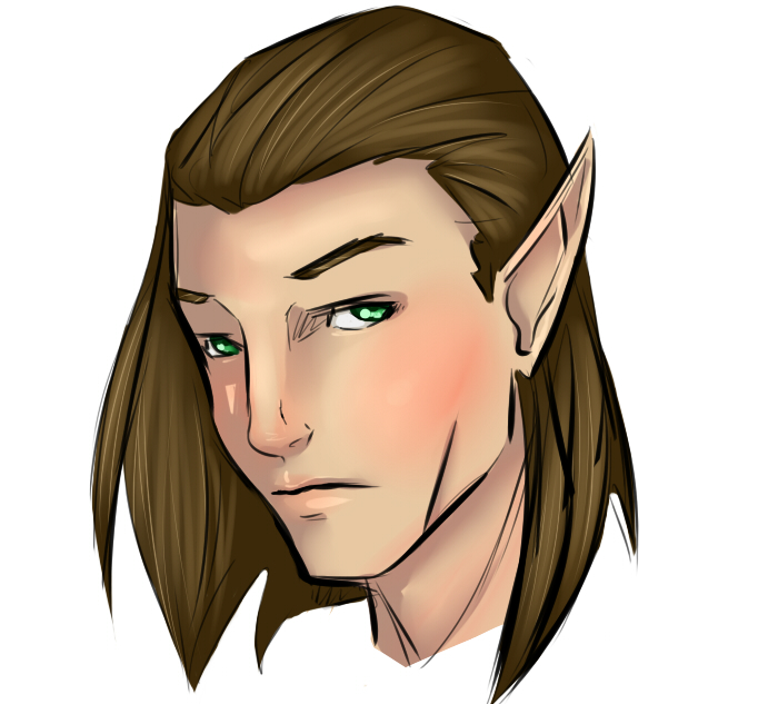 My lotro Elf sketched by lonelion4ever