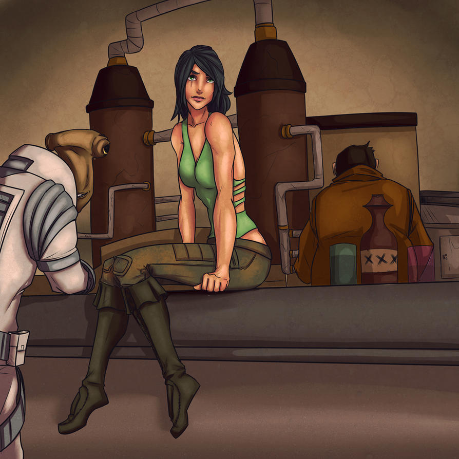 Cantina Commission by lonelion4ever