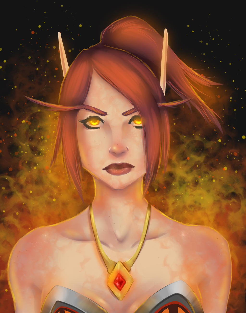 Blood Elf Mage by lonelion4ever