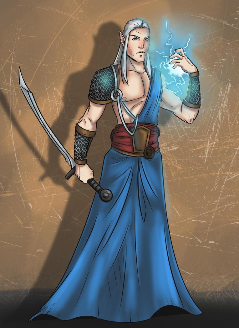Elvish Blademaster by lonelion4ever