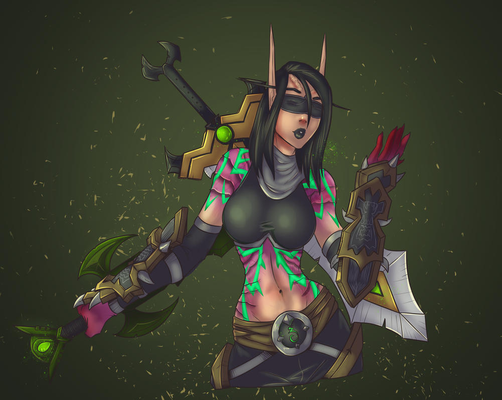 Demon Hunter Commission by lonelion4ever