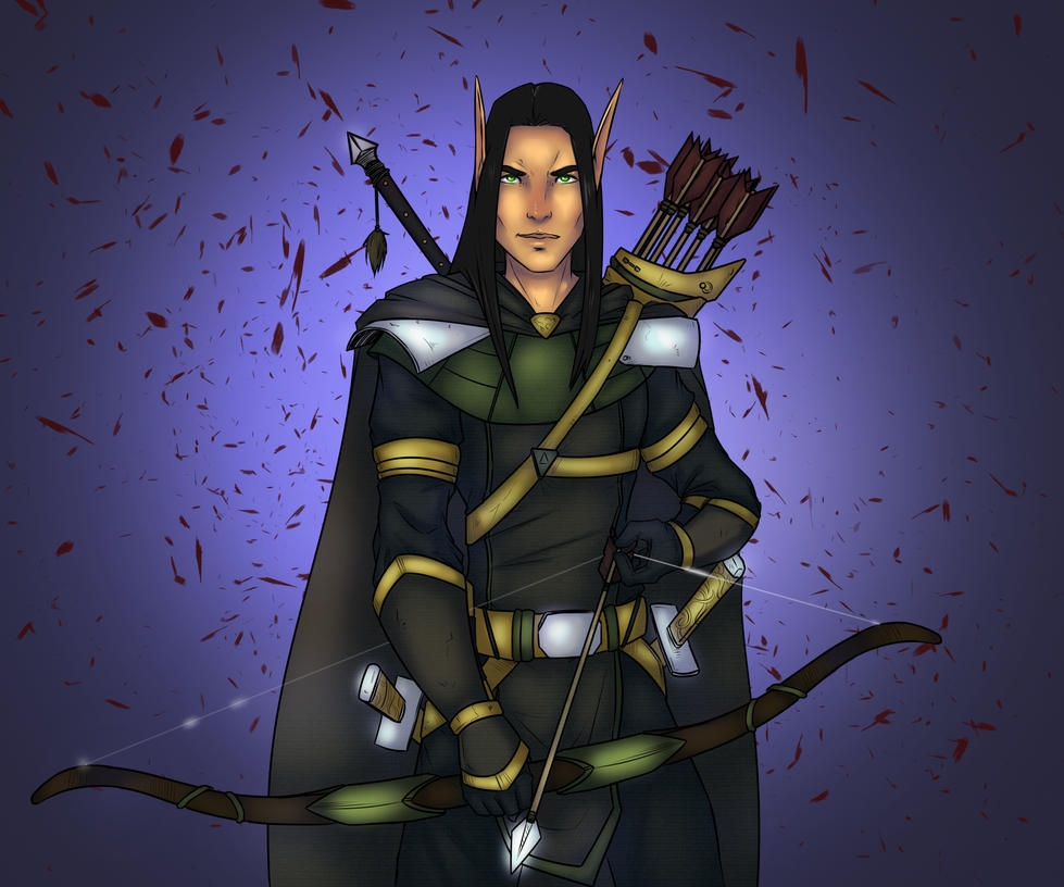 DnD elf commission by lonelion4ever
