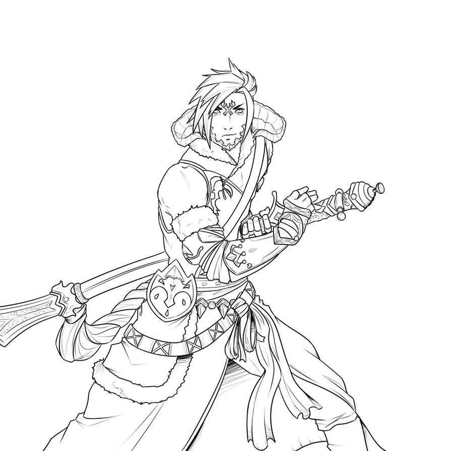 FF14 WIP by lonelion4ever