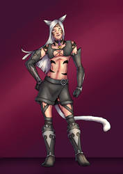 miqote commission by lonelion4ever