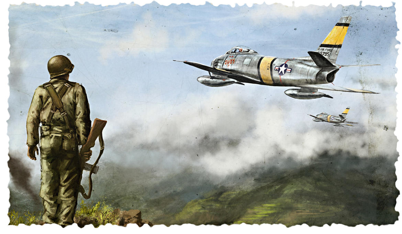Sabres over Korea by Remton