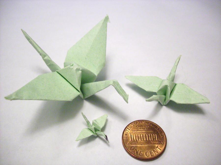 tiny mini origami cranes by kittycat727 on DeviantArt - photo#5