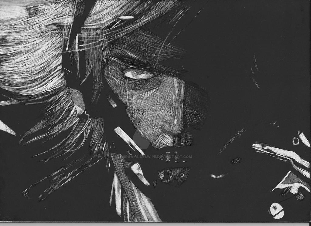 Illustration Scratchboard Assignment (Raiden) by BronySideswipe