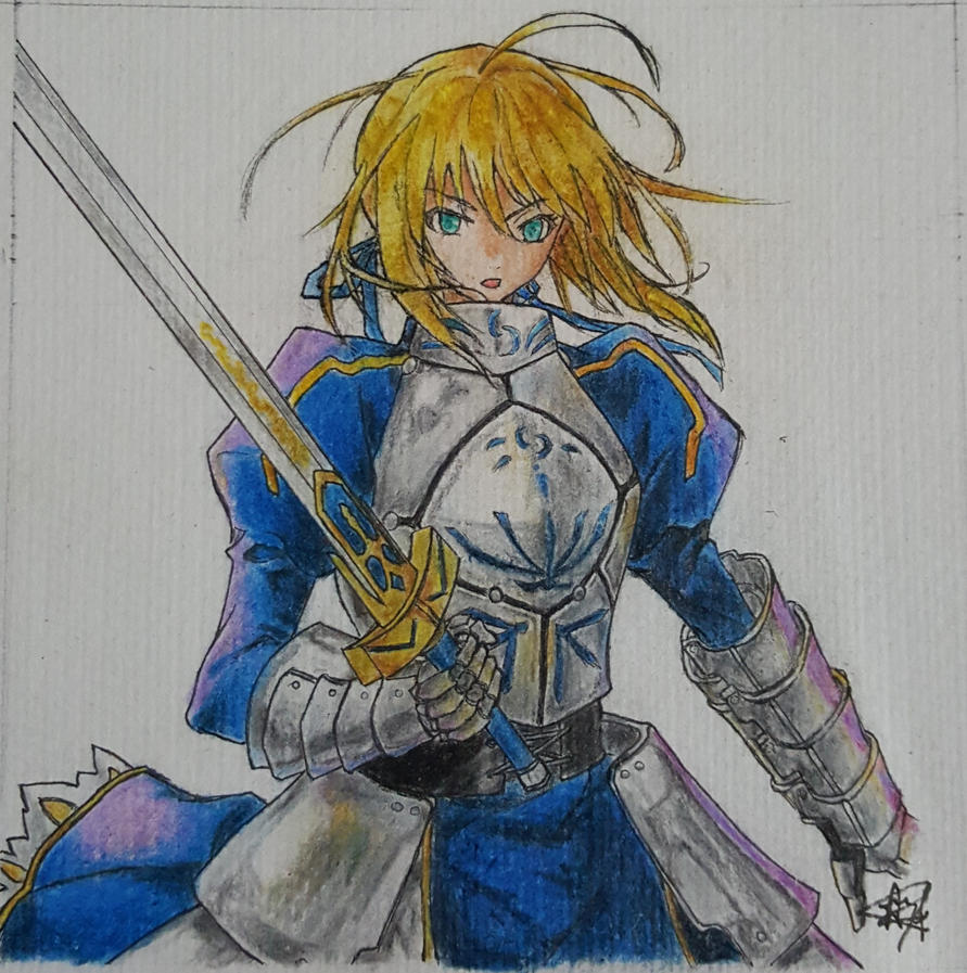 SABER!!!!!! FATE/STAY NIGHT: UNLIMITED BLADE WORKS by lily1119