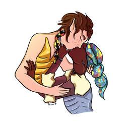 Stealing a Kiss by Dreadnoughtus-FR