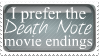 I Prefer The Death Note Movie Endings by 123Stamps123