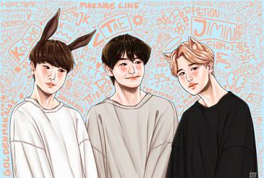 maknae line | BTS fanart