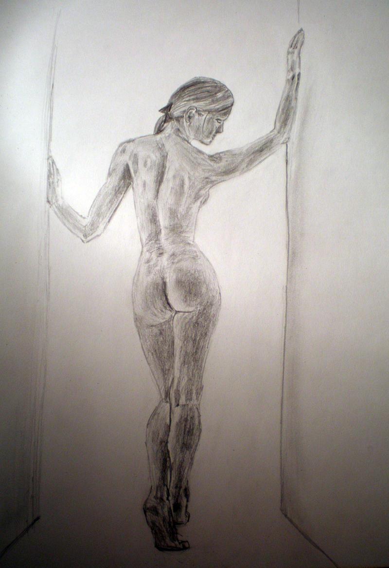 woman at the door by Drahoslav7