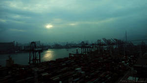 Bay is blue in silent light