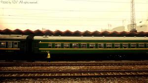 Old people ang train.