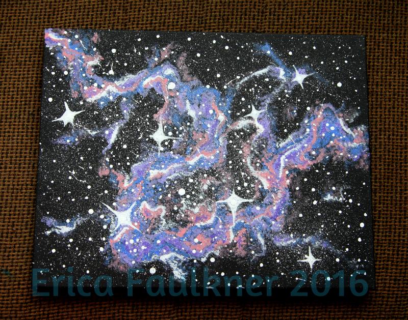 Galaxy/Nebula Painting by Anj3L