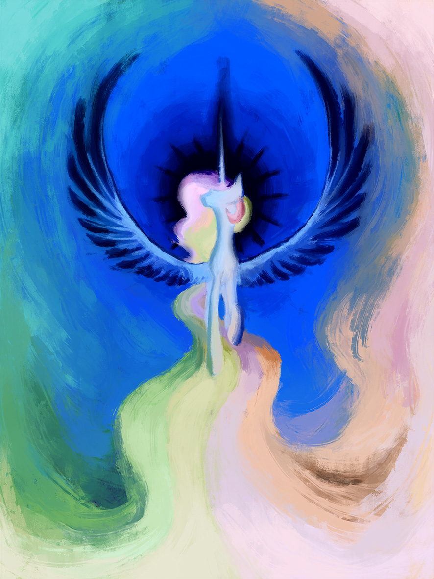 celestia painting inverted by delphina34 on deviantart