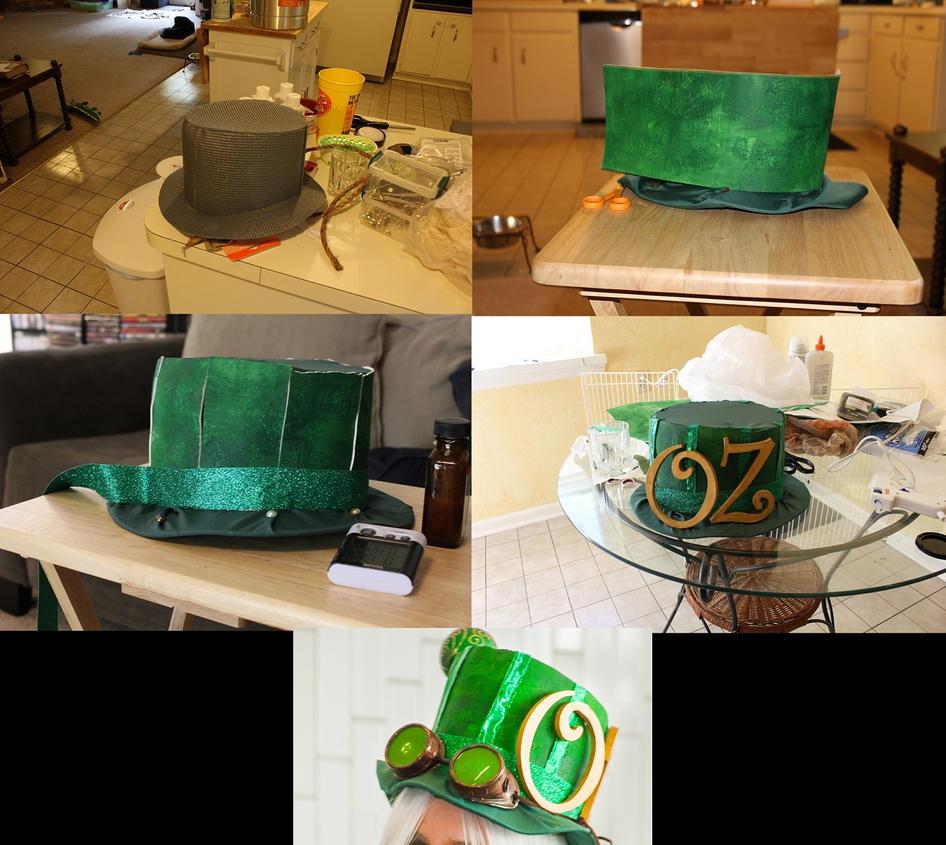 Wizard of Oz top hat progress by girlg33kkris