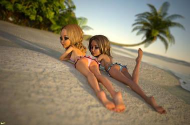 Gossips on the beach