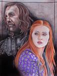 Sandor and Sansa by CHANACHO