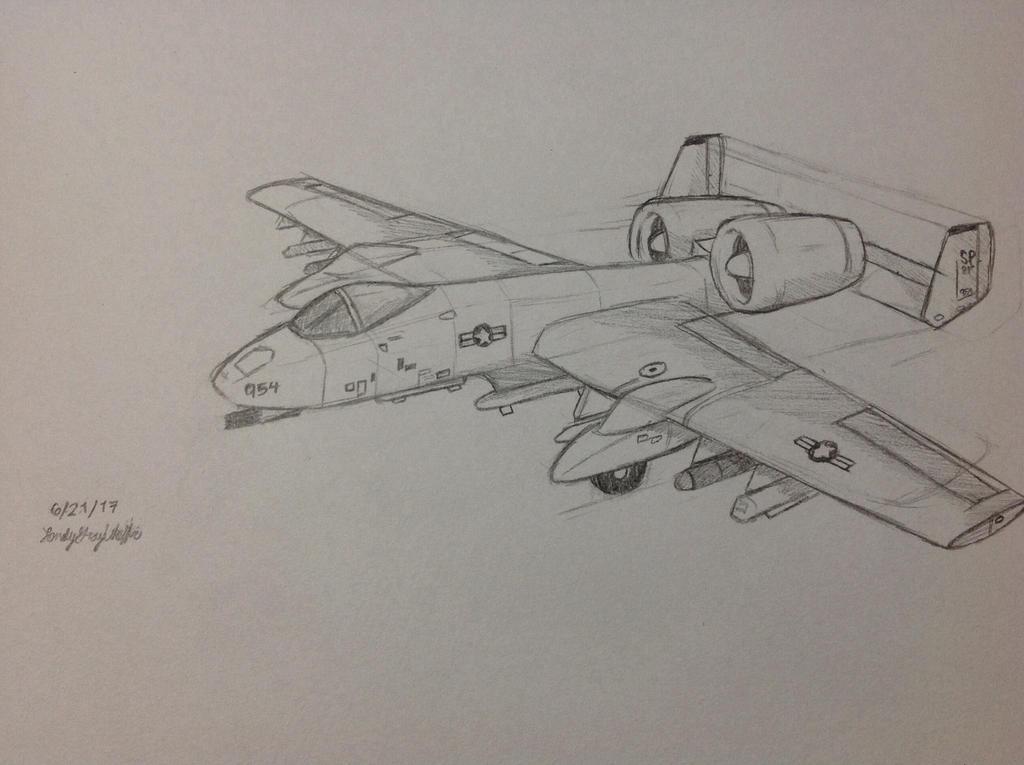 Fairchild Republic A-10 Thunderbolt II  by LonelyGrayWolfie