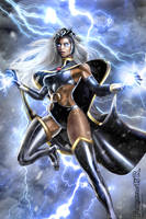 STORM  Ororo X-MEN (digital art COMISSION) by killbiro