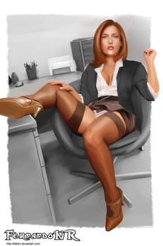 AGENT SCULLY (X-FILES) PIN UP