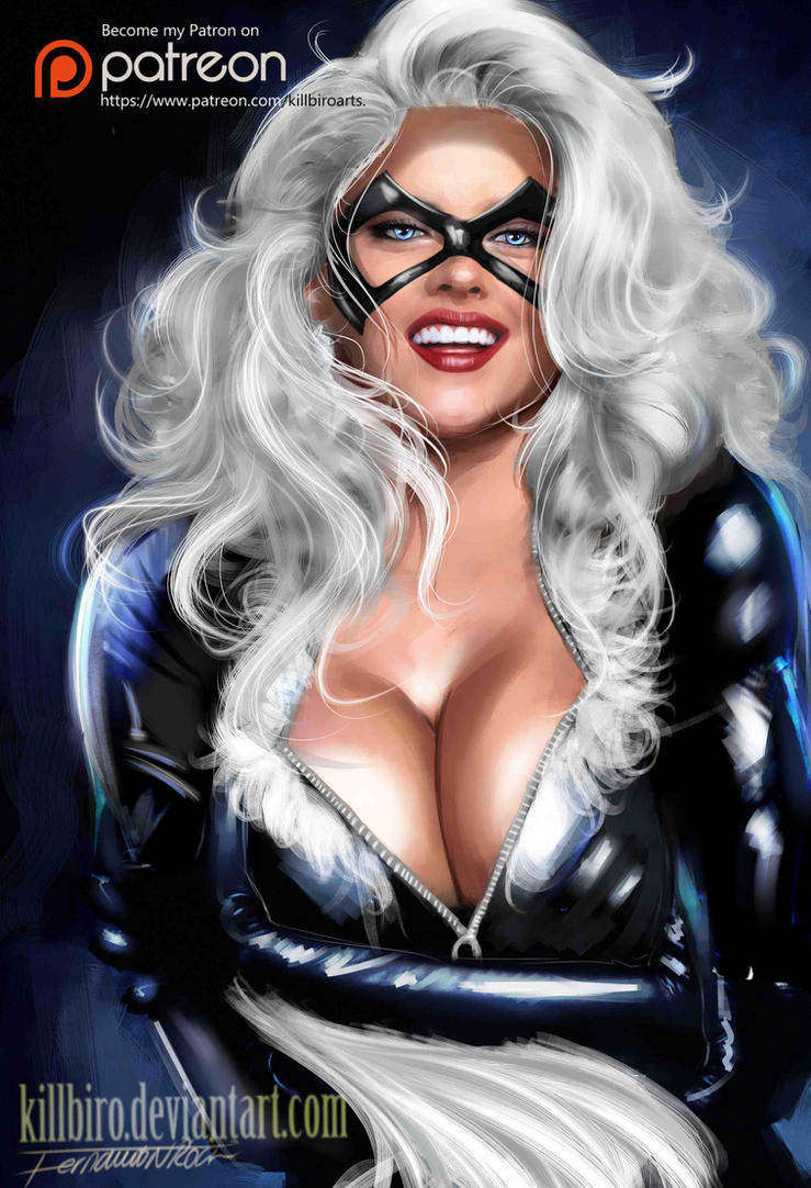 BLACK CAT  portrait by killbiro