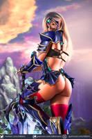 Flaming Sword Warrior Sapphire OC by killbiro