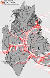 SACARLET WITCH sketch by killbiro