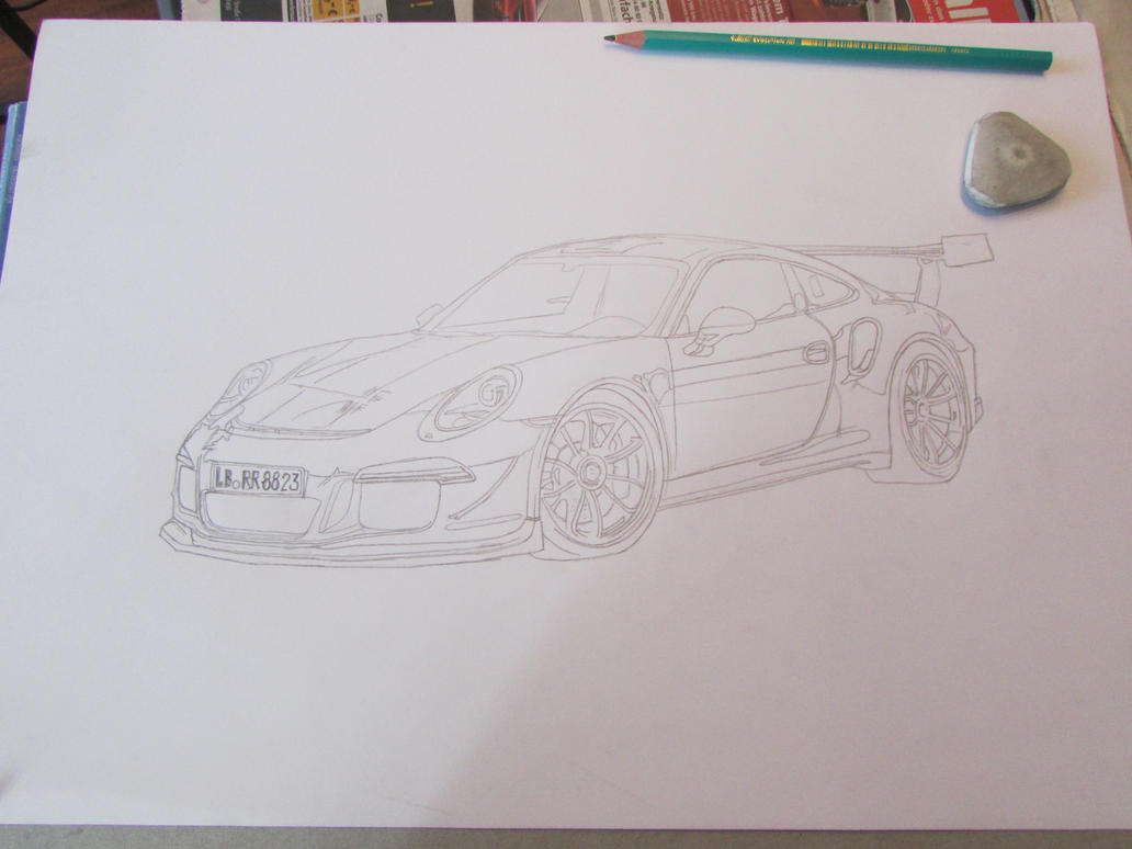 Line Drawing Car : Porsche 911 gt3 car line drawing by ivantremblac on deviantart