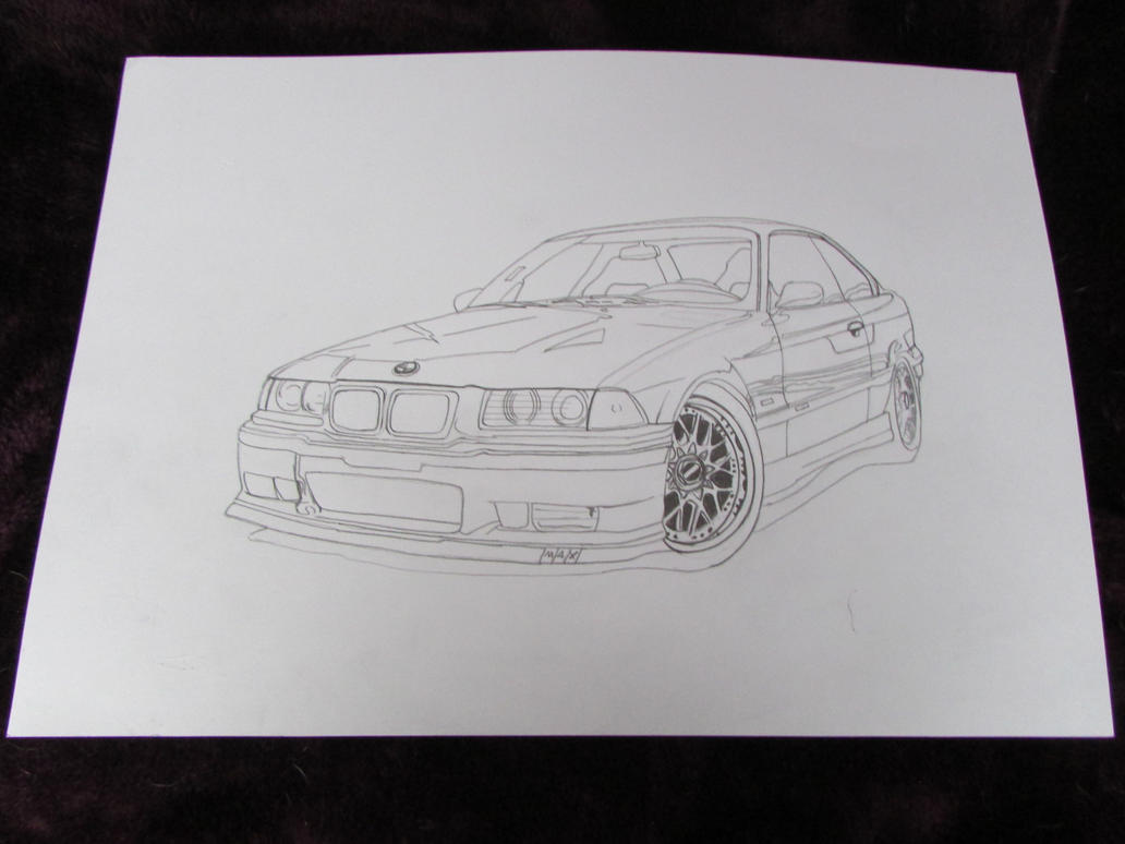 Line Drawing Car : Bmw m3 car line drawing by ivantremblac on deviantart