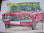 Ford Cortina Mk3 GXL Car Watercolour/Drawing by ivantremblac