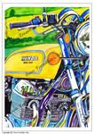 Honda CB 750 Motorcycle painting. by ivantremblac