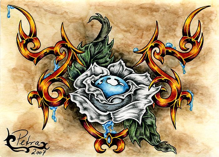 tattoo tribal black rose by evilorchid on deviantart. Black Bedroom Furniture Sets. Home Design Ideas
