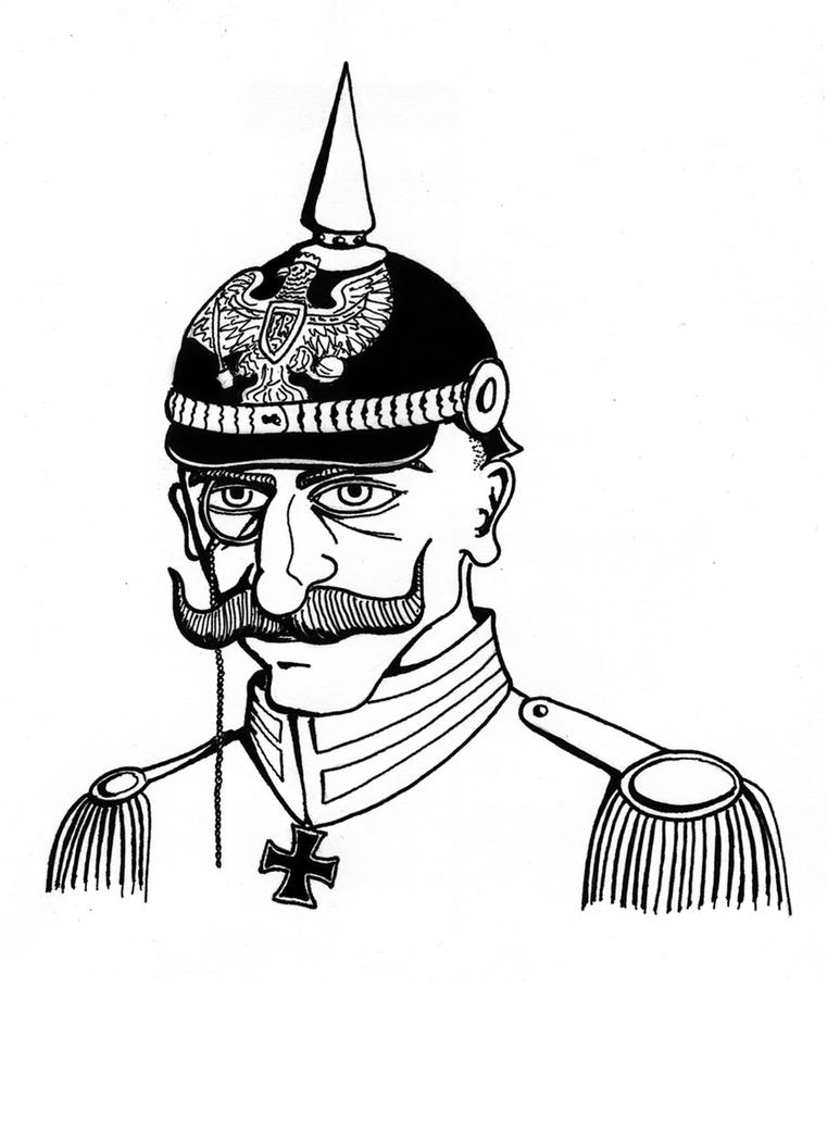 how to draw a pickelhaube