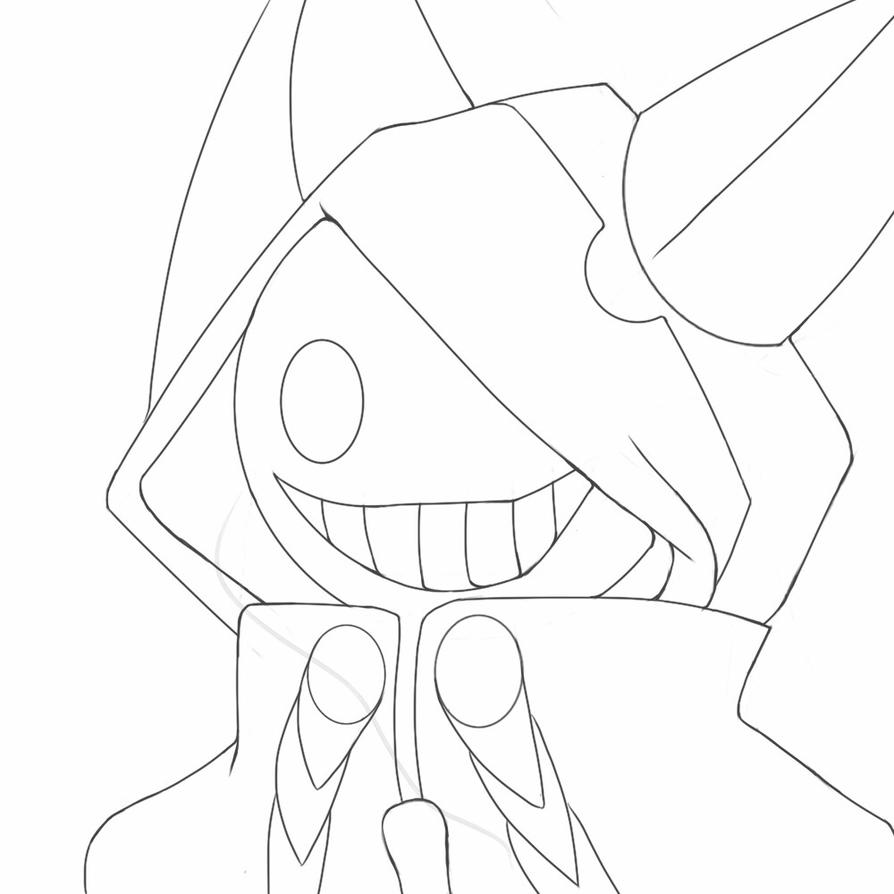Putty Line Drawing Q : Taokaka protral line art by titan kaose on deviantart