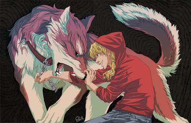 Red and the Wolf by skipaway