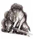 Great Grey Wolf Sif by Kwazar
