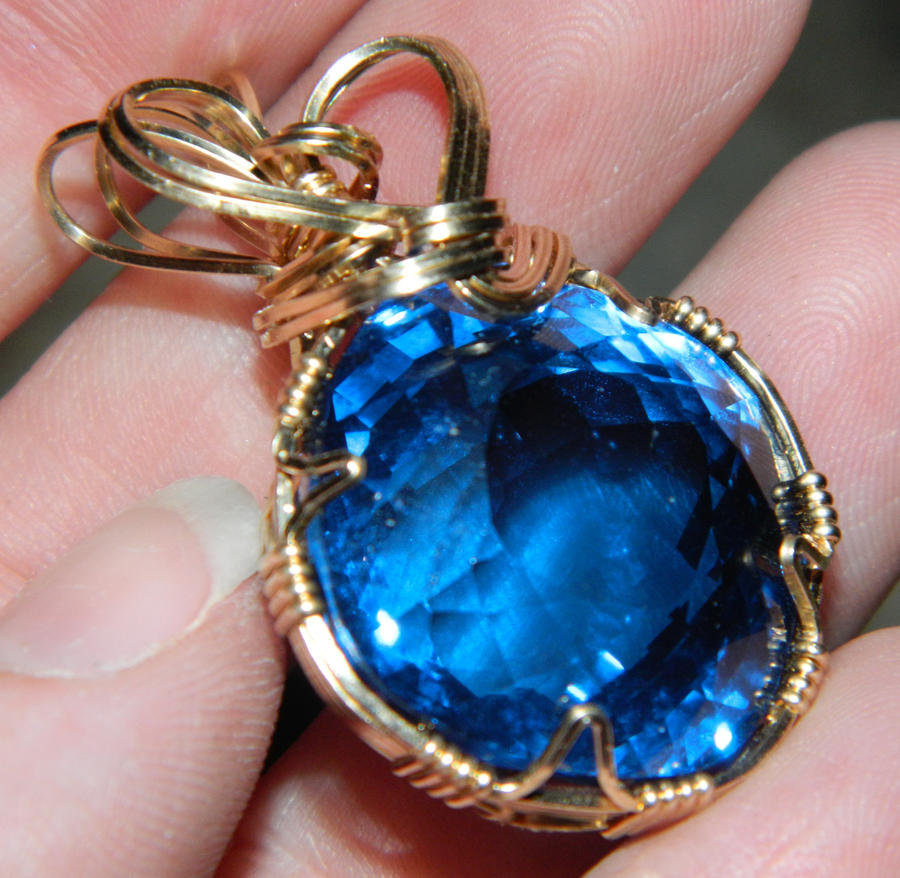 Blue gemstone pendant by dpbjewelry on deviantart blue gemstone pendant by dpbjewelry aloadofball Image collections