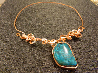 Turquoise in copper freeform