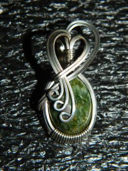 vintage jade cabochon in silver