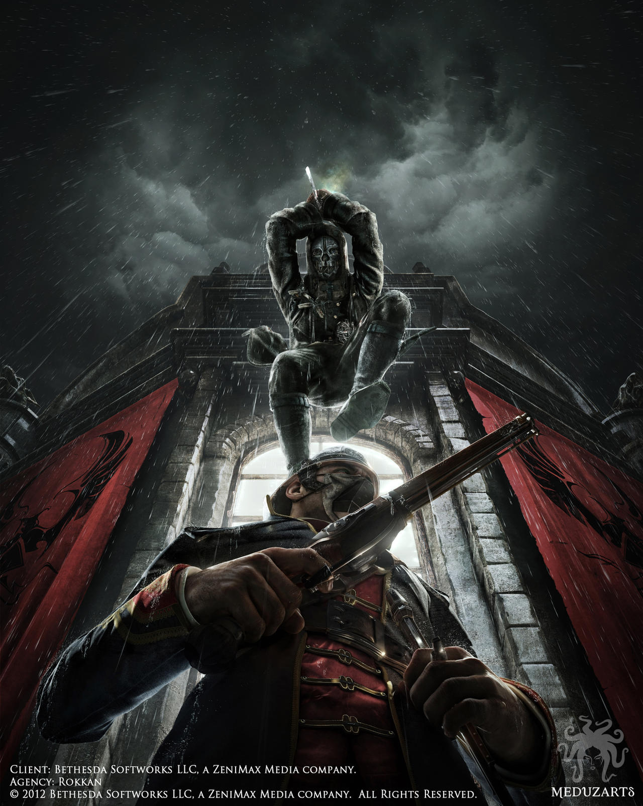 Dishonored - Death From Above Key Art by meduzarts